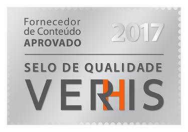 Fornecedor de conteúdo aprovado - Selo de Qualidade Verhis 2017