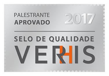Palestrante aprovado - Selo de Qualidade Verhis 2017